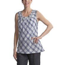 Two Star Dog Daphne Tank Top - Crinkle Cotton (For Women) in Plaid - Closeouts