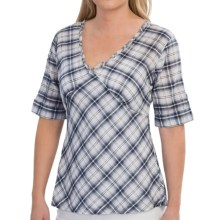 Two Star Dog Delphina Shirt - 3/4 Sleeve (For Women) in Plaid - Closeouts
