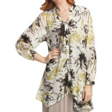 Two Star Dog Francesca Tunic Shirt - Printed Chiffon, Long Sleeve (For Women) in Mirabella - Closeouts