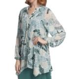 Two Star Dog Francesca Tunic Shirt - Printed Chiffon, Long Sleeve (For Women)