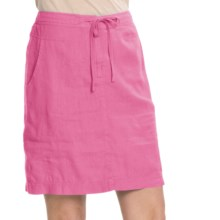 Two Star Dog Ginny Linen Skirt (For Women) in Hibiscus - Closeouts