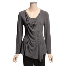 Two Star Dog Greta Shirt - Heathered Jersey, Long Sleeve (For Women) in Graphite Heather - Closeouts