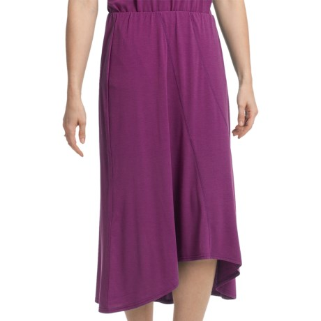 Two Star Dog Hi-Lo Skirt - Heathered Stretch Jersey (For Women) in Pimento