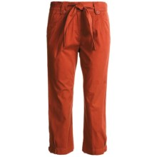Two Star Dog Jordan Crop Pants - Garment Dyed, Stretch (For Women) in Cinnamon - Closeouts