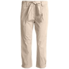 Two Star Dog Jordan Crop Pants - Garment Dyed, Stretch (For Women) in Stone - Closeouts
