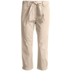 Two Star Dog Jordan Crop Pants - Garment Dyed, Stretch (For Women) in Green Tea