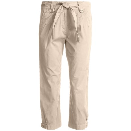 Two Star Dog Jordan Crop Pants - Garment Dyed, Stretch (For Women) in Stone