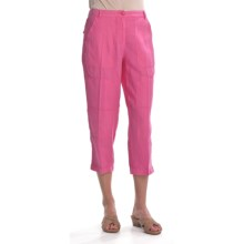 Two Star Dog Julia Crop Pants - Garment-Dyed Linen (For Women) in Hibiscus - Closeouts