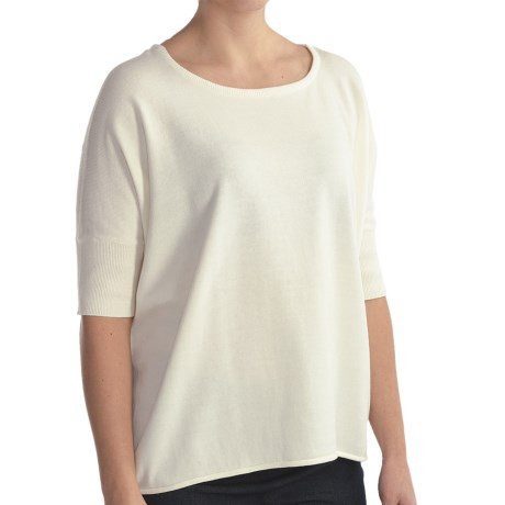 Two Star Dog Justine Sweater - Short Sleeve (For Women) in White Sand