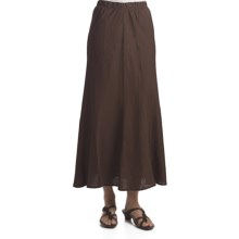 Two Star Dog Kamala Linen Skirt (For Women) in Chocolate - Closeouts
