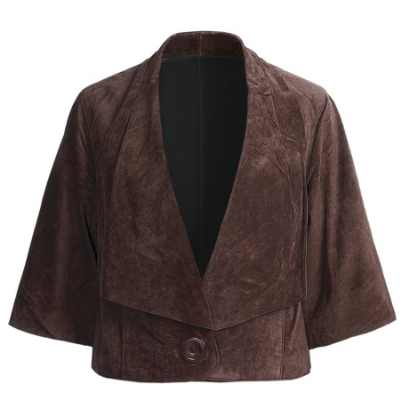 Two Star Dog Lindy Jacket - Suede (For Women) in Espresso
