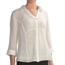 Two Star Dog Lynette Shirt with Camisole - Long Sleeve (For Women) in Ivory - Closeouts