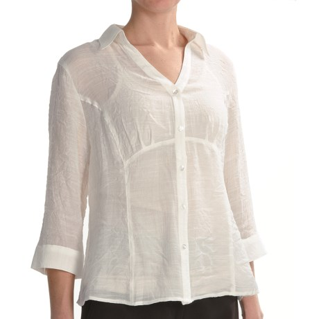 Two Star Dog Lynette Shirt with Camisole - Long Sleeve (For Women) in Ivory