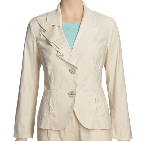 Two Star Dog Maddie Jacket - Stretch Linen (For Women) in Bone