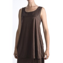 Two Star Dog Marseille Crinkle Jersey Tank Top (For Women) in Chocolate - Closeouts