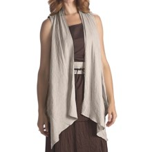 Two Star Dog Matilda Cascading Vest - Linen (For Women) in Flax - Closeouts