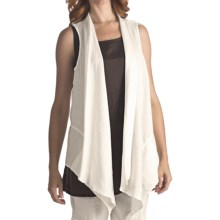 Two Star Dog Matilda Cascading Vest - Linen (For Women) in White - Closeouts