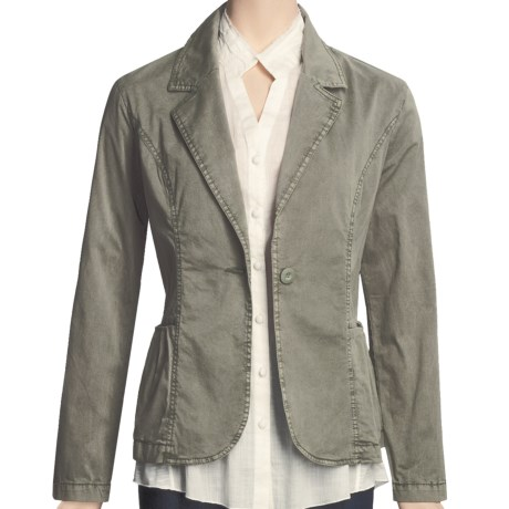 Two Star Dog Meredith Jacket - Stretch Cotton Twill (For Women) in Olive
