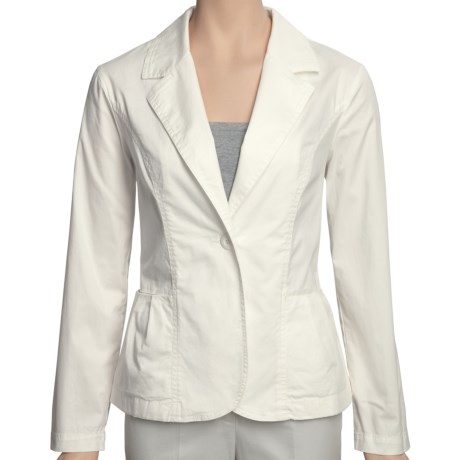 Two Star Dog Meredith Jacket - Stretch Cotton Twill (For Women) in White Sand