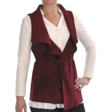 Two Star Dog Mina Vest - Suede (For Women) in Bordeaux - Closeouts