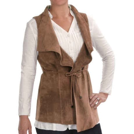 Two Star Dog Mina Vest - Suede (For Women) in Bordeaux