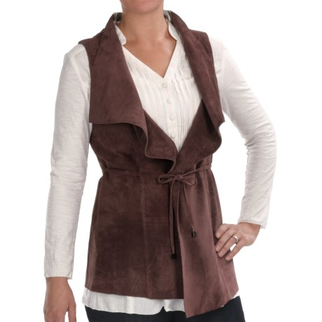 Two Star Dog Mina Vest - Suede (For Women) in Thistle