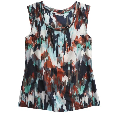 Two Star Dog Monaco Printed Voile Shirt - Short Sleeve (For Women) in Print