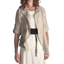 Two Star Dog Murielle Linen Jacket - 3/4 Sleeve (For Women) in Flax - Closeouts