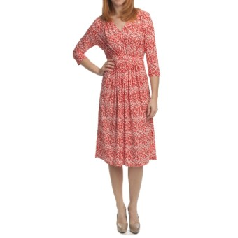 Two Star Dog Nikki Dress - Travel Knit, 3/4 Sleeve (For Women) in Poppy
