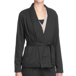 Two Star Dog Rosemary Jacket - Ponte Knit, Removable Belt (For Women) in Black