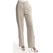 Two Star Dog Santorini Bethany Convert Pants - Linen-Cotton (For Women) in Natural - Closeouts