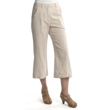 Two Star Dog Santorini Ingrid Crop Pants - Linen-Cotton (For Women) in Natural - Closeouts