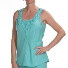 Two Star Dog Serafina Shirt - Garment-Dyed Linen, Sleeveless (For Women) in Seaglass - Closeouts