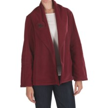 Two Star Dog Shawl Collar Jacket - Fleece (For Women) in Wine - Closeouts