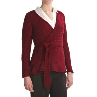 Two Star Dog Sonja Belted Cardigan Sweater (For Women) in Cranberry