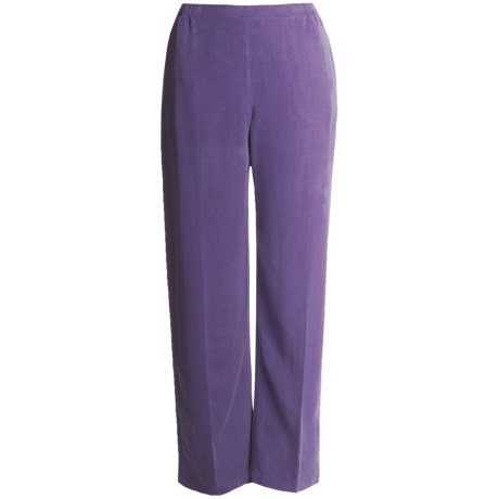 Two Star Dog TENCEL® Pants - Semi-Flat Front (For Women) in Amethyst