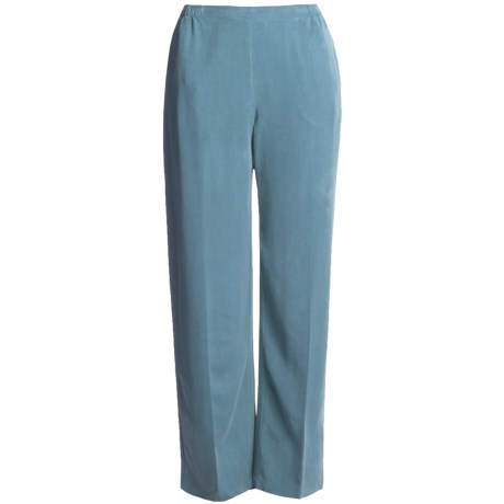 Two Star Dog TENCEL® Pants - Semi-Flat Front (For Women) in Bay Blue