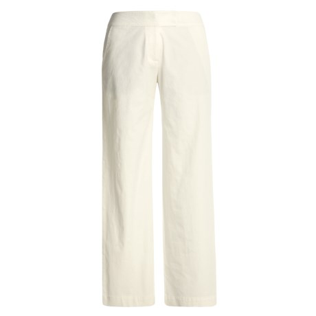 Two Star Dog Twill Tab Front Pants (For Women) in Eggshell