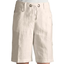 Two Star Dog Wanda Convertible Shorts - Linen (For Women) in Soft White - Closeouts