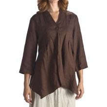 Two Star Dog Willa Linen Shirt Jacket - 3/4 Sleeve (For Women) in Chocolate - Closeouts