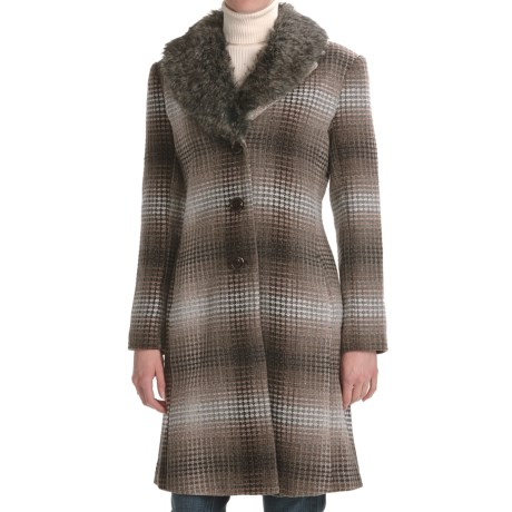 Two Star Dog Zelda Coat - Ombre Plaid (For Women) in Plaid