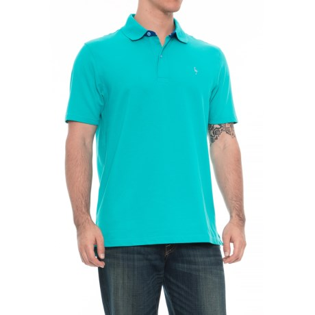 Image of Two-Tone Polo Shirt - Short Sleeve (For Men)