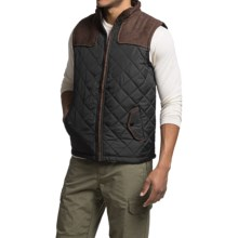 Two-Tone Quilted Vest (For Men) in Black/Brown - 2nds