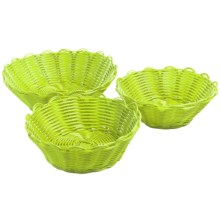 Two's Company Cupcakes Scalloped Baskets - Set of 3 in Green - Closeouts