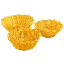 Two's Company Cupcakes Scalloped Baskets - Set of 3 in Yellow - Closeouts