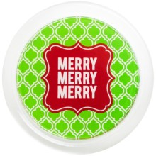 """Two's Company Holiday Cheer Wine Bottle Coaster - 5"""" in Merry - Closeouts"""