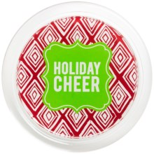"Two's Company Holiday Cheer Wine Bottle Coaster - 5"" in Holiday Cheer - Closeouts"
