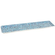 "Two's Company Keramikos Mosaic Glass Tray - 6x24"" in Blue - Closeouts"