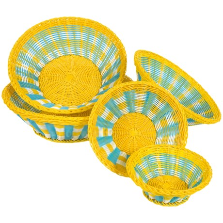 Two's Company Mad for Plaid Baskets Set of 5