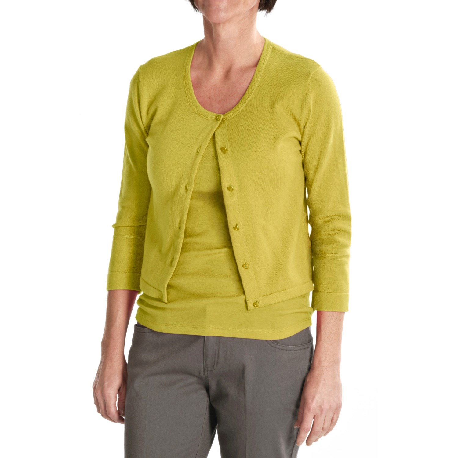 Womens Cotton Sweaters When it comes to a versatile garment that she can wear during any season, women's cotton sweaters fit the bill. For the spring and fall, choosing this clothing staple in the appropriate weight means that she will look wonderful while staying comfortable in case of an unexpected gust of chilly wind.